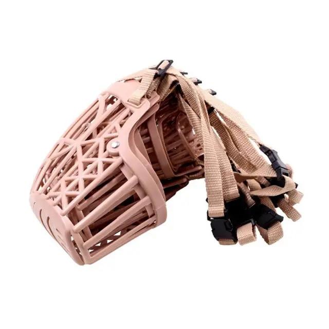 7 Sizes Adjusting Pet Dog Muzzle Strong Plastic Dogs Muzzle Basket Design Anti-biting Straps Mask Dog Anti-Bark Chew Muzzles