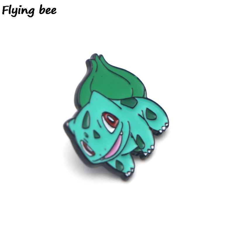 Flyingbee おかしいエナメルピン洋服バッグリュック人格のブローチシャツラペルピン X0199