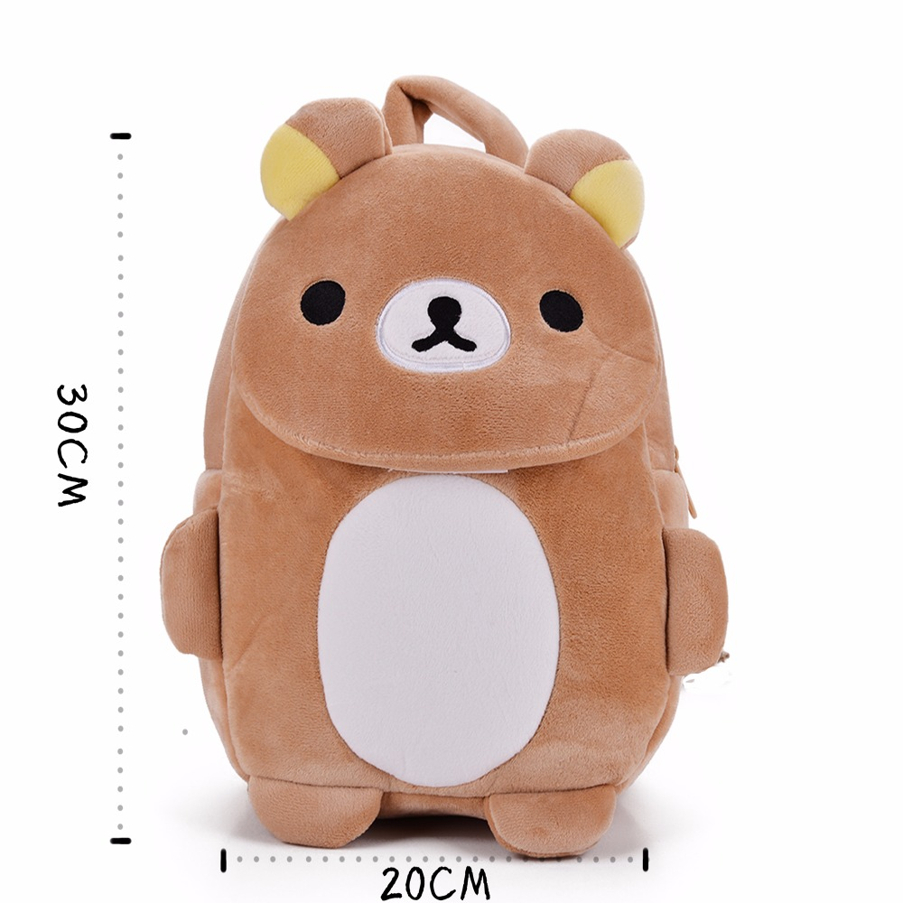 Cartoon-Childrens-Backpacks-Kids-Zoo-Animal-Rilakkuma-Plush-Lovely-Backpack-Baby-Plush-Children-Bag-for-Kindergarten3-6Year-Old-3