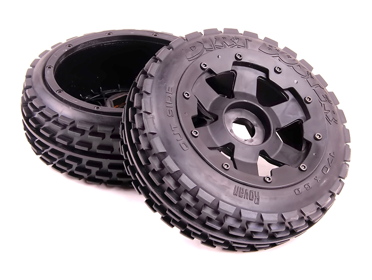 baja 5B II front wheel off-road tire assembly baja 5b off road front wheels set only 2pc front