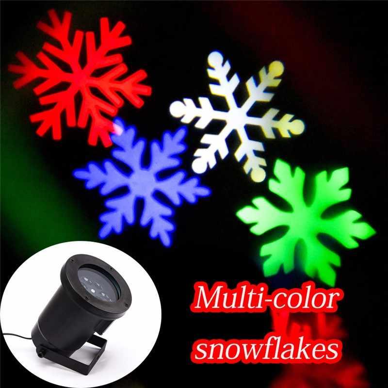 Светодиодный Рождественский проектор со снежинками, открытый водонепроницаемый внешний светильник, садовые вечерние украшения, Свадебный прожектор для вечеринки