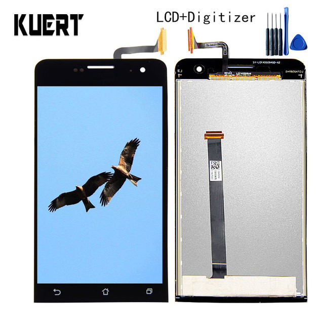 "KUERT 5.0"" High Quality Touch Screen Digitizer LCD Display Assembly For Asus Zenfone 5 A500CG A501CG 1280*720 Free shipping"