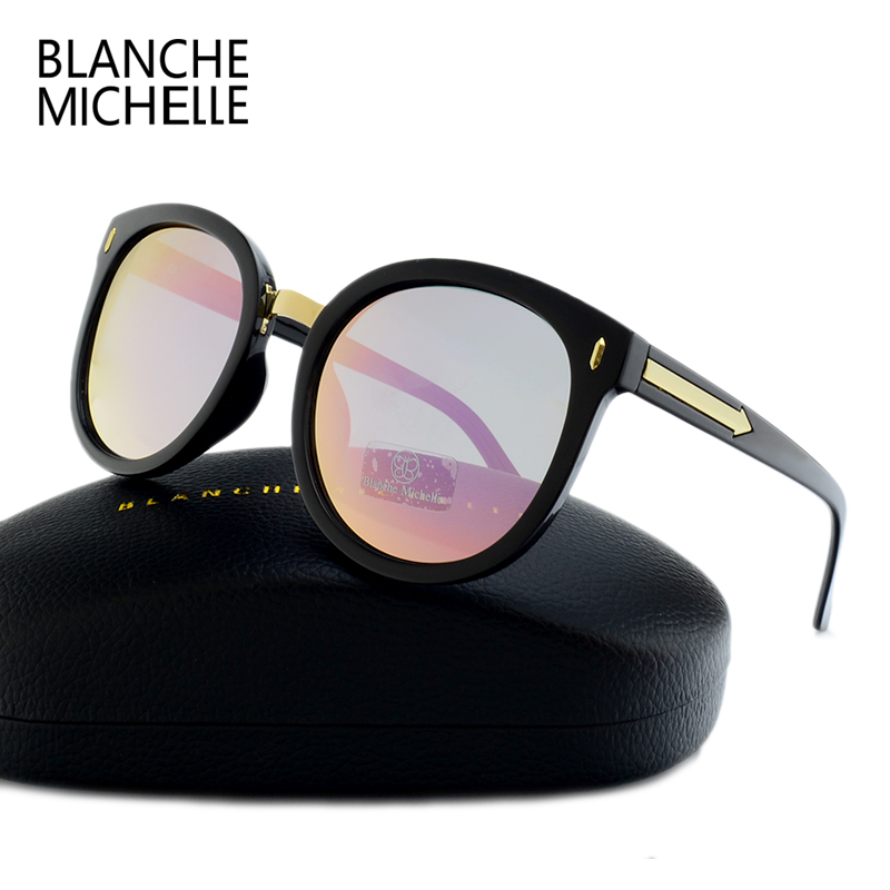 2017 High Quality Round Mirror Sunglasses Women Polarized UV400 Brand Designer Oculos Female sunglass Polaroid Sun Glasses  1