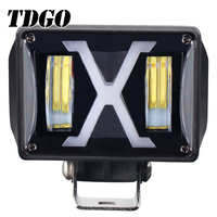 TDGO High Quality Motorcycle Spotlight Headlights 12V LED Moto 4800Lm Motorbike Driving Headlamps Spot Moto DRL Lights Scooter
