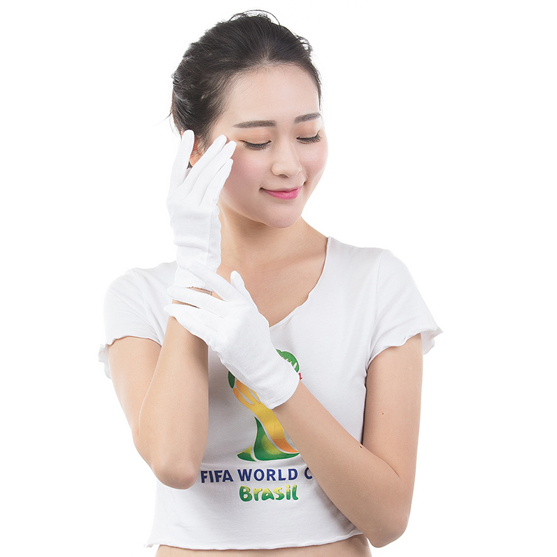 Image 5 - ABESO 12 pairs/lot White 100% Cotton Ceremonial gloves for male female Serving / Waiters/drivers/Jewelry Gloves A6001-in Safety Gloves from Security & Protection