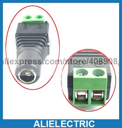 100pcs 5.5mm x 2.1mm DC Female Power Plug Terminals Sockets CCTV Cameras Connecto 500pcs 5pin 2 5mm x 0 7mm dc notebook socket female cctv charger power plug diy