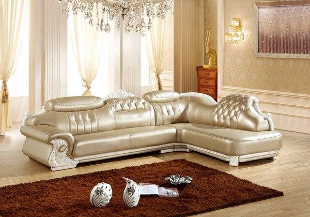 Amerikanischen Ledercouchgarnitur Wohnzimmer Sofa China L Form Ecksofa Holzrahmen