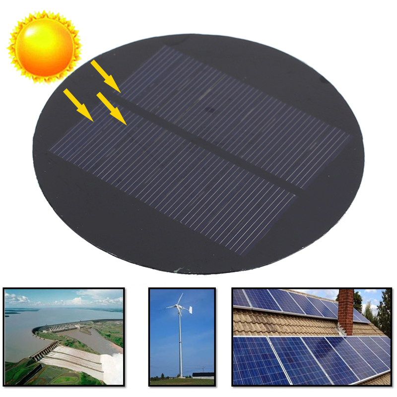 BCMaster 1 шт/3 шт/5 шт Круглые солнечные панели 4,5 в 100мА ПЭТ Солнечные батареи 88,5 мм Высокое качество открытый