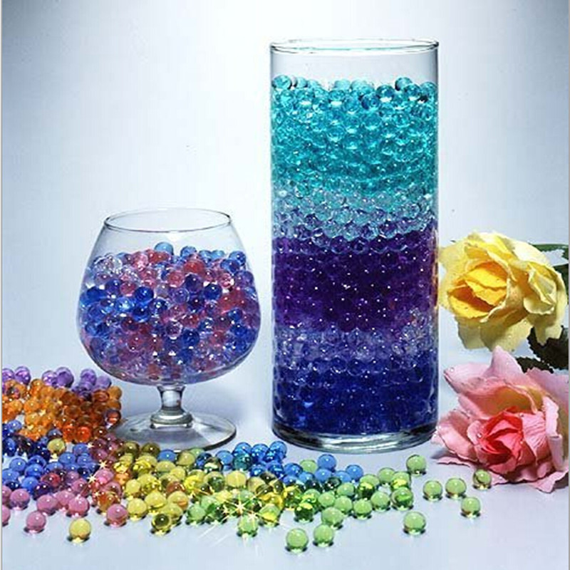 Jelly Ball Decor Brilliant 1000Pcs Water Plant Flower Jelly Crystal Soil Mud Water Pearls Gel 2018