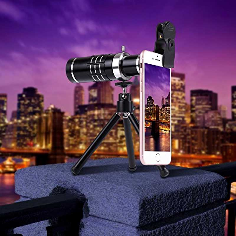 Telescope Lens 7in1 Camera Photo Universal Clips 18X Optical Zoom Lente+Bluetooth Shutter+Telephoto Lenses For iPhone Smartphone - 6