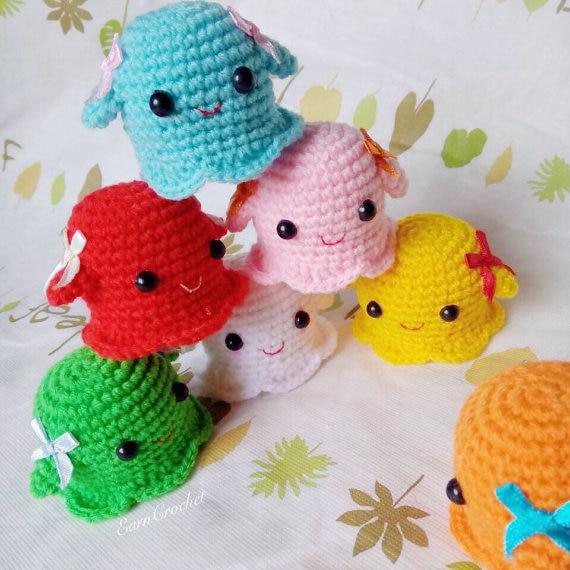 Amigurumi Ghost,mini Crochet Doll,kawaii Crochet, Charm Rattles, Useful Anywhere For Display Or Enjoy