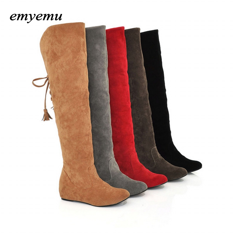 Women snow boots riding equestrian boots fashion platform over the knee boots warm winter boots for women shoes Eur size34-43 big size riding equestrian boots fashion platform over the knee high heels boots for women shoes eur size34 43
