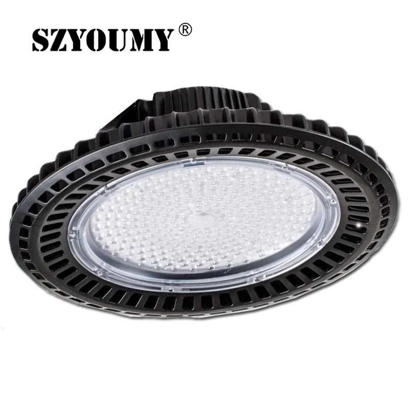 SZYOUMY High Quality LED High Bay UFO Light 200W 250W 300W Black Circular Lamp Warmwhite White For Warehouse SupermarketSZYOUMY High Quality LED High Bay UFO Light 200W 250W 300W Black Circular Lamp Warmwhite White For Warehouse Supermarket