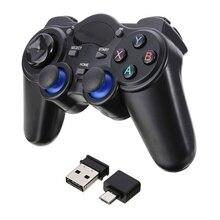 Хоббилан беспроводной геймпад джойстик 2,4G игровая консоль с микро USB Адаптер конвертера OTG для Android планшетов PC tv Box d15