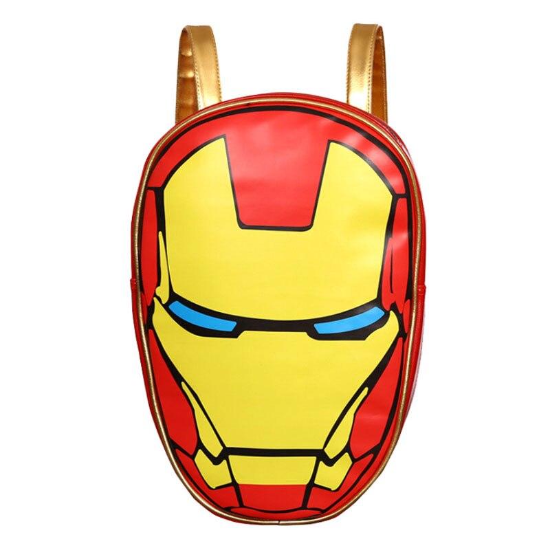 Gepäck & Taschen Erfinderisch Cartoon Anime Ironman Rucksack Pu-leder Schultaschen Super Hero Avengers Iron-mann Geschenk Männer Frauen Tragbare Mochila Rucksäcke Ausgereifte Technologien