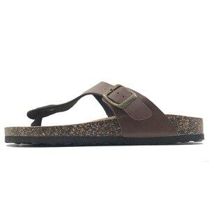 Image 5 - Tongs 2019, chaussures Style été pantoufles décontractées pour femme, sandales en liège, boucle de qualité supérieure, grande taille, 6 à 11 S gratuites, nouveauté