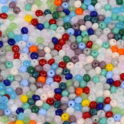 STENYA крошечный 2 мм рукоделие кристалл свободные бусины Rondelle граненый шитье ювелирных изделий Изготовление ювелирных изделий лук узел повязка на голову аксессуары - Цвет: mix color