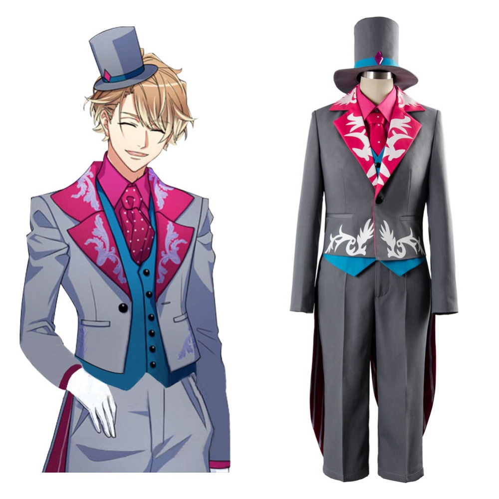 Cosplay A3! Chigasaki Itaru Boy Alice in Wonderland Cosplay Costume Outfit Full Set Uniform Halloween carnival Costume