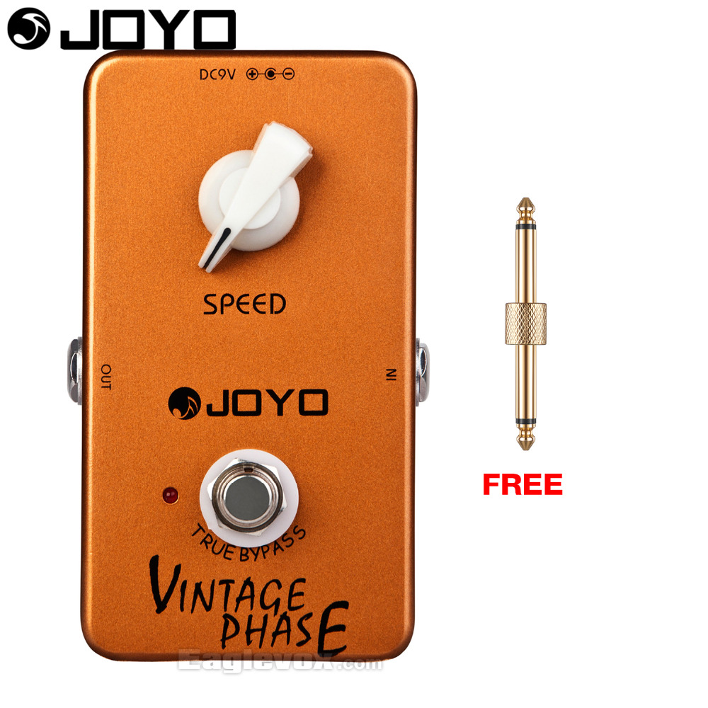 JOYO Vintage Phase Electric Guitar Effect Pedal True Bypass JF-06 with Free Connector joyo jf 317 space verb digital reverb mini electric guitar effect pedal with knob guard true bypass