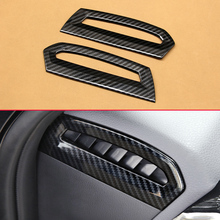 Carbon Fiber Look 2Pcs/Set Trims For 2018 Toyota Camry Hybrid Car Front Side Air Outlet Moulding Extra Added Covers Accessories