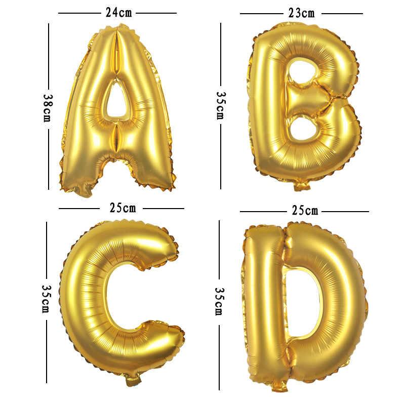 ローズゴールド手紙バルーン誕生日パーティーの装飾ゴールド結婚式風船アルファベット空気グロボス記念パーティーの装飾