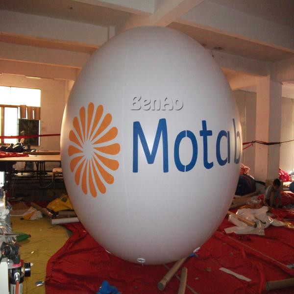 AO362 Free shipping 3m Inflatable egg shape elliptical helium balloon with custom logo printing inflatable air