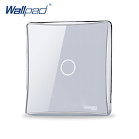 Free Shipping Denoo Luxury White Black Touch Switch Panel 110 250V Gentleman Touch Screen Wall Light