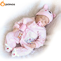 "[PCMOS] 22"" Sleeping Infant Lifelike Reborn Girl Dolls Soft Touch Vinyl Handmade Realistic Baby Kids Christmas Gift 16081907"