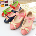 Fashion children shoes girls shoes lovely bowknot princess single shoes kds leather shoes breathable girls casual flats