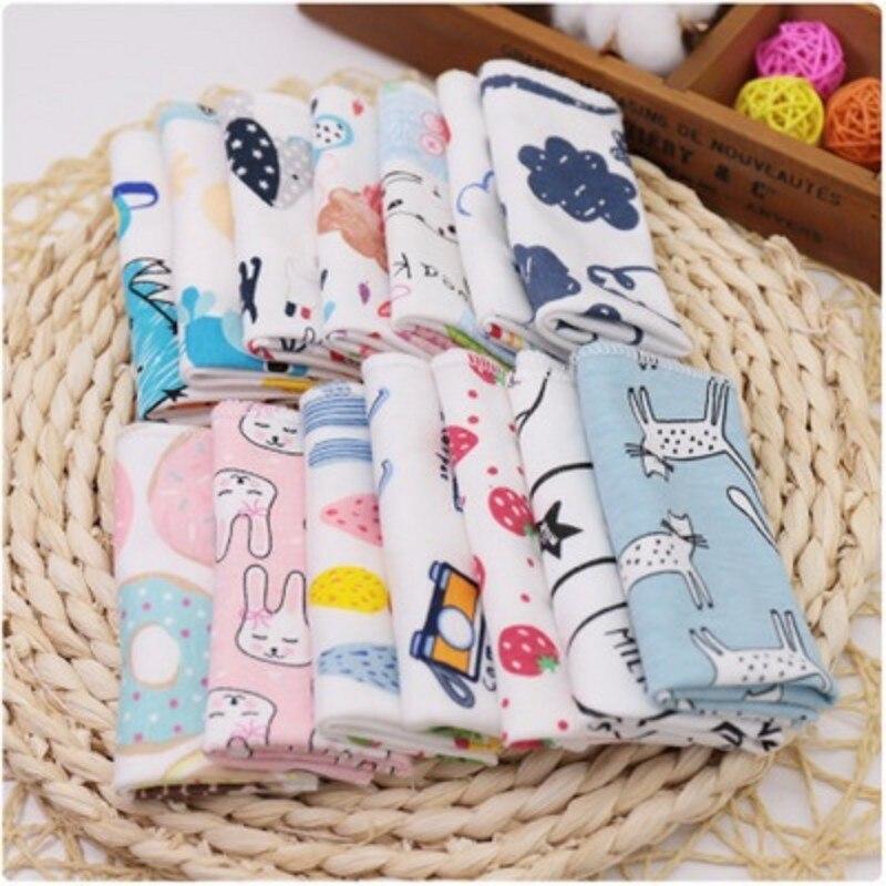 3pcs/lot Baby Handkerchief Combed Cotton Children  Small Hand Towel Newborn Baby Soft Watercloth Feeding Towel 25*25cm