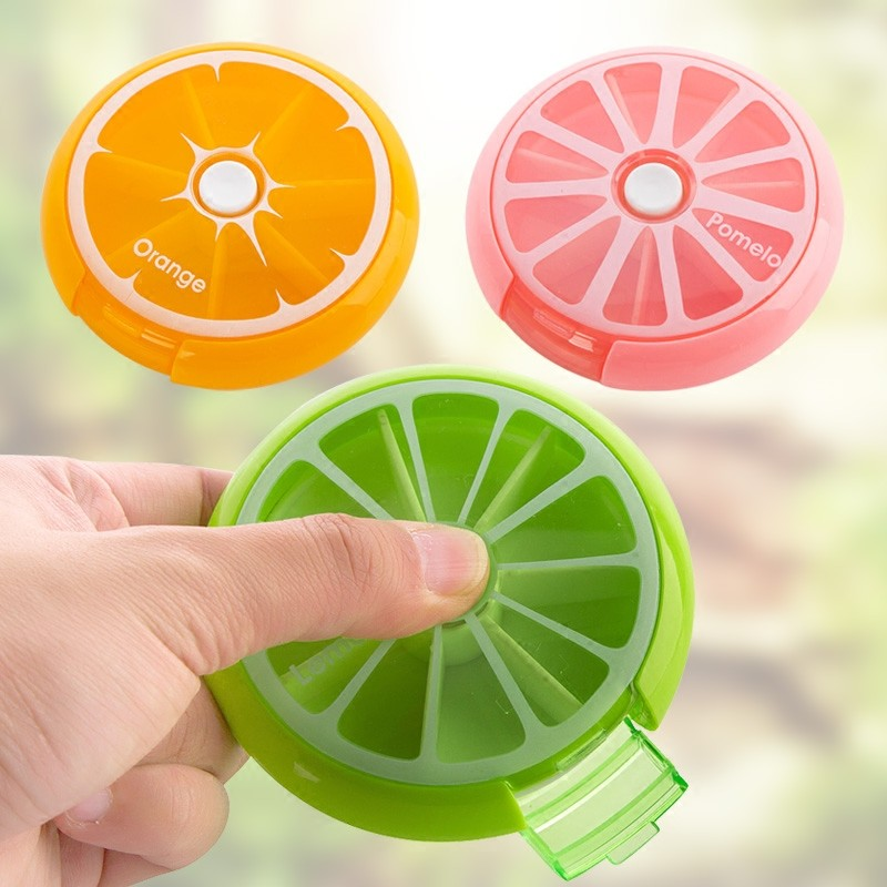 Health-Care-Medicine-Pill-Box-Fruit-Shaped-Sort-Vitamin-7-Day-Weekly-Holder-Tablet-Storage-Case