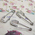 20pcs/lot Brooch Blank Base Brooch Antique Bronze 50mm Safety Pins Brooch Blank Jewelry Making Findings Accessories