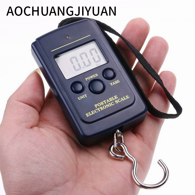 Hot Multifunctional Portable Mini 40kg/10g Fishing Electronic Weighing Balance Digital Scale Handy Pocket Weight Hook Scale constant delight 9%