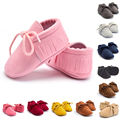 Bebé casual shoes baby girl shoes tassel fringe mocasín suave suela pu shoes infantil niño niña niño bebé casual shoes