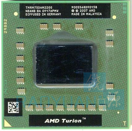 AMD Turion 64 X2 Mobile Technology RM-75 RM 75 RM75 2.2 GHz Dual-Core Dual-Thread CPU Processor TMRM75DAM22GG Socket S1