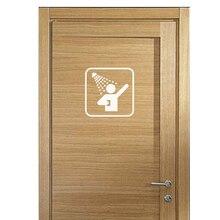 KUCADA Creative Bathroom Shower Sign Door Art Quote Vinyl Wall Sticker DIY Door Glass Stickers WP2405