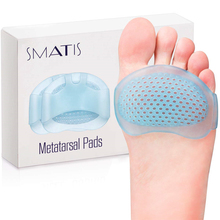 цена на Metatarsal Pads for Women and Men, 4PCS Ball of Foot Cushions  Heel Inserts for Metatarsalgia Neuroma Mortons  Relieve Pain