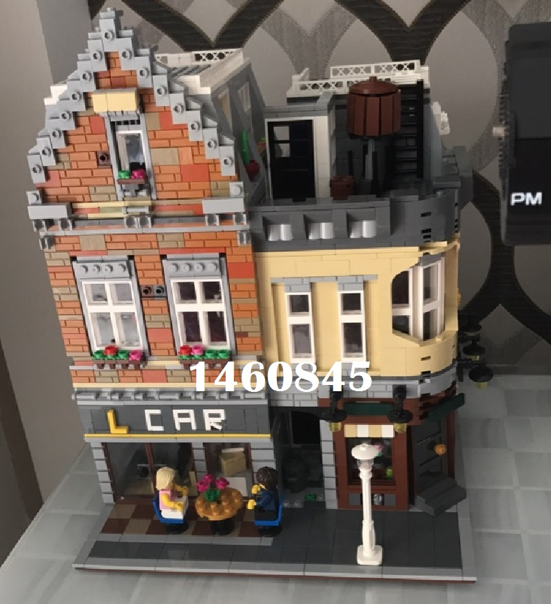 4210Pcs The New Building City house Street View series Fid