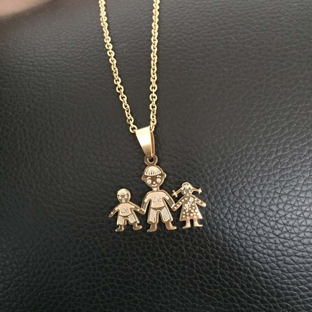 Hot stainless steel family necklaces jewelry gold tone love father hot stainless steel family necklaces jewelry gold tone love father son daughter pendants necklace lima peru aloadofball Images