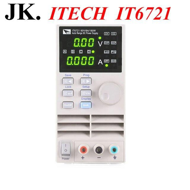 IT005 Professionnel ITECH IT6721 Gamme Auto Numérique DC Alimentation 60 V/8A/180 W Réglable Alimentations Instrumetation