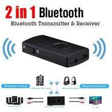 سماعة لاسلكية تعمل بالبلوتوث جهاز ريسيفر استقبال وإرسال محول واحد الصوت الموسيقى محول مع كابل شحن USB 3.5 مللي متر كابل الصوت 40JUN0