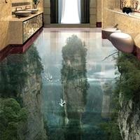 Custom Photo Wallpaper Wear Thicker PVC Wall Stickers World Fairyland Peak Cliff Living Room Bathroom 3d