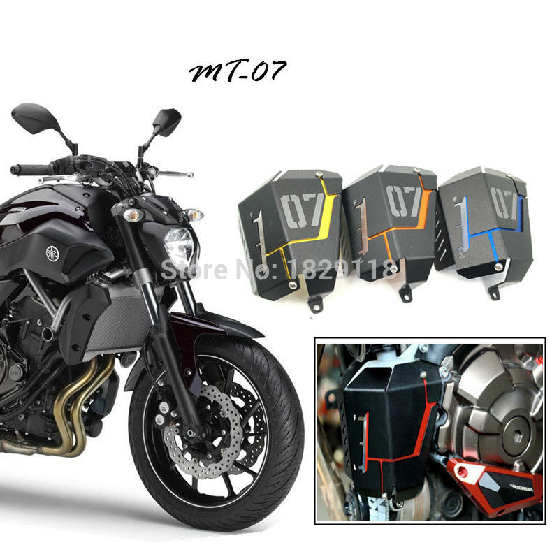 RPMMOTOR Radiator Water Coolant Reservoir Tank Guard Cover for 2013-2016 Yamaha FZ07 MT07 for yamaha mt 07 mt07 radiator grille guard side cover protector for yamaha mt07 fz07 fz 07 2013 2014 2015 2016 new