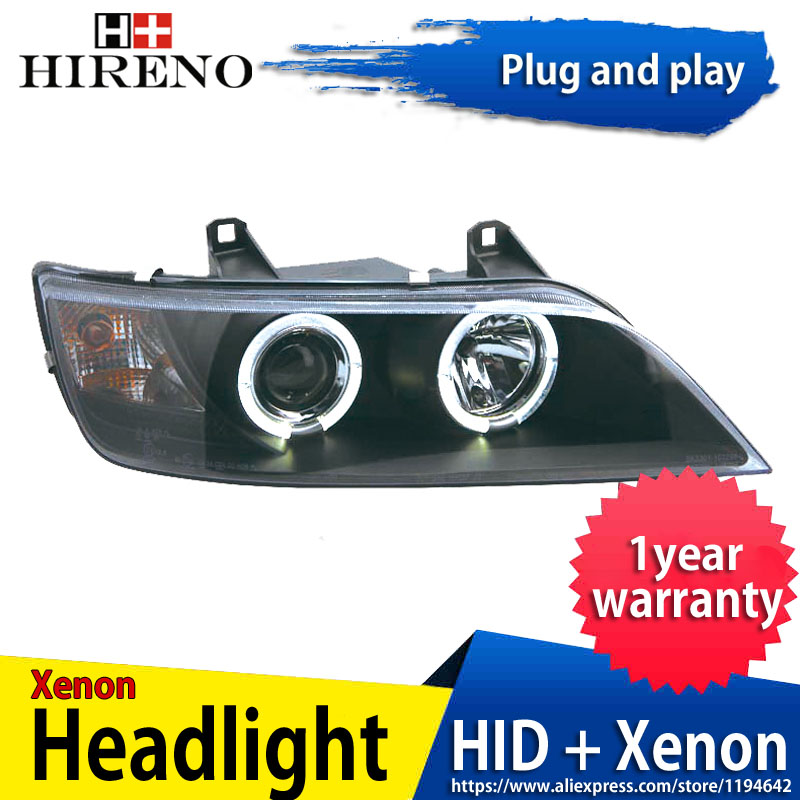 Hireno Headlamp for 1996-2003 BMW Z3 car Headlight Assembly LED DRL Angel Lens Double Beam HID Xenon 2pcs hireno car styling headlamp for 2003 2007 honda accord headlight assembly led drl angel lens double beam hid xenon 2pcs