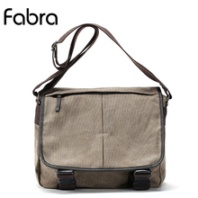 Fabra New Vintage Canvas Bag Men Khaki Messenger Bags Postman Large Handbag Big Capacity Shoulder