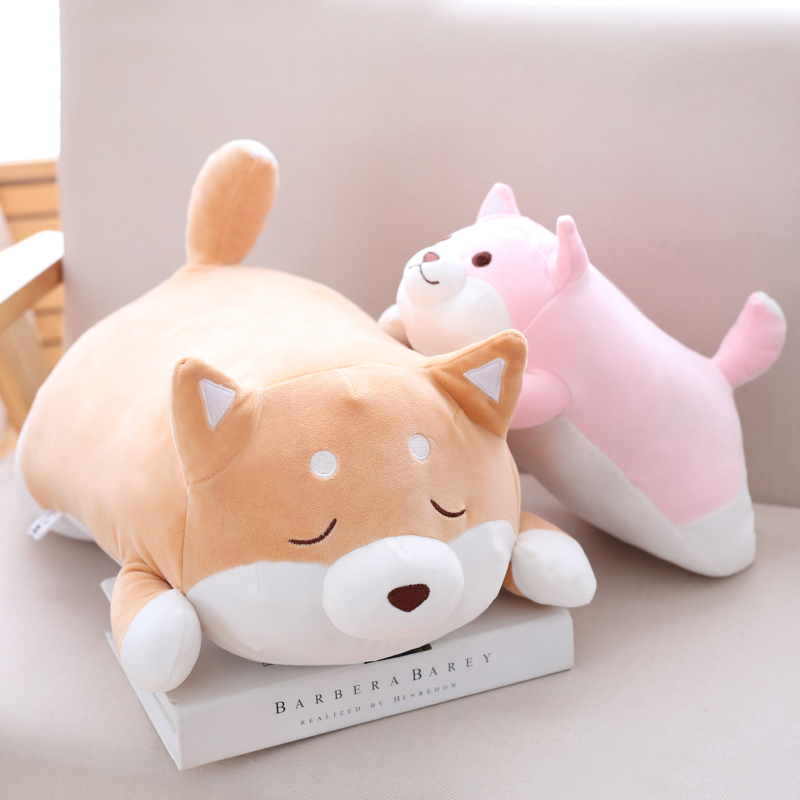 1pc 55cm Cute Fat Shiba Inu Dog Plush Pillow Stuffed Soft Cartoon Animal Toys Lovely Kids Baby Children Christmas Gift Dolls 1pc 16cm mini kawaii animal plush toy cute rabbit owl raccoon panda chicken dolls with foam partical kids gift wedding dolls