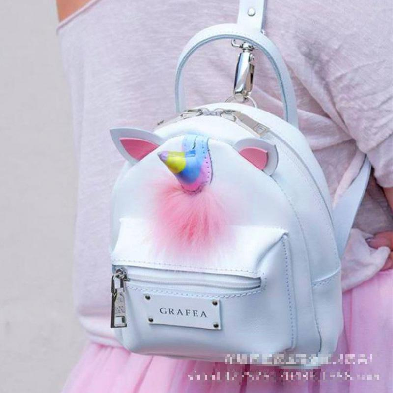 Kawaii japon bonbons coloré licorne en peluche sac à dos 8 pouces mignon Cartoon sac à bandoulière enfants cartable pour filles cadeaux d'anniversaire