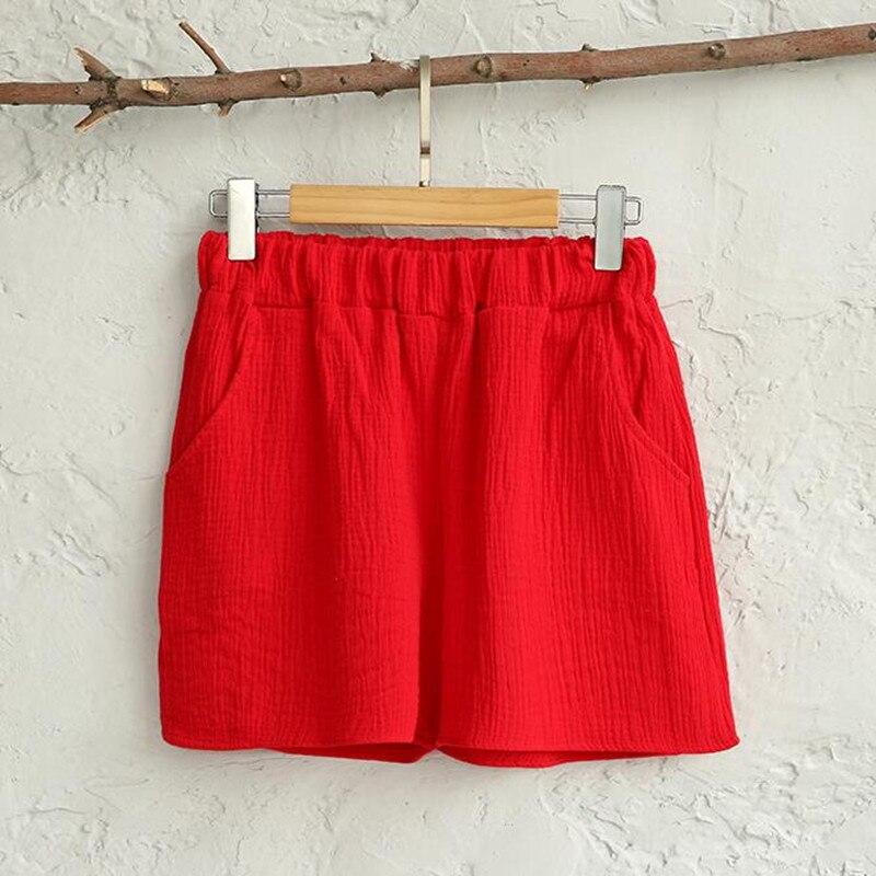 Plus Size M-6XL Korea Style Women Shorts Causal Home Cotton Linen Short Women's Fitness Workout Shorts 14 Candy Color