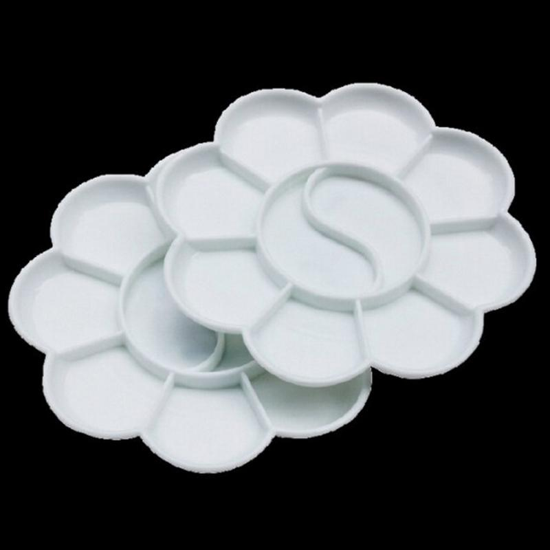 Art alternatives white paint tray plastic color palette artist watercolor painting supply painting tool #823 new professional 10 well round artist watercolor paint mixing palette tray white color