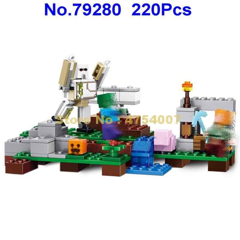 79280 220 Uds mi mundo iron golem bloque de construcción Lele juguete